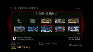AVerMedia Game Capture HD II – Playback