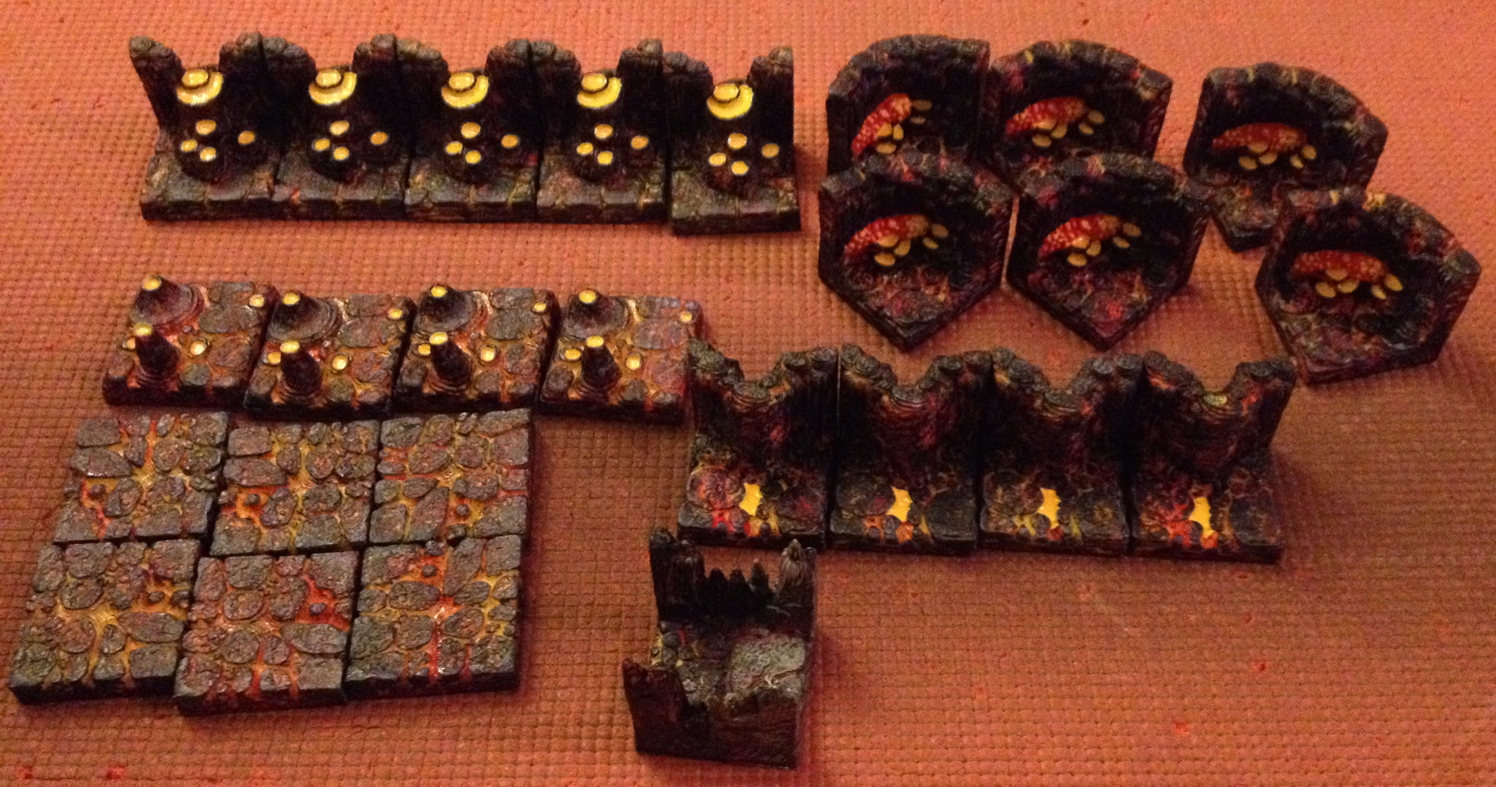 tabletop review dwarven forge cavern tiles lava cavern and here is a look at all the tiles you get in the lava cavern pack all of the tiles are ones you can in the base set or stretch goal packs