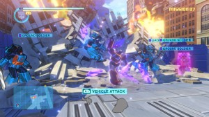 Sideswipe melee in action